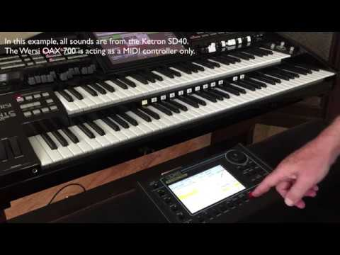 KETRON SD40 with WERSI Organ - Midi Set up