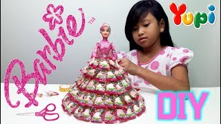 Mainan Anak Boneka Barbie 💖 Membuat Baju Barbie dari Permen Yupi 💖 Let's Play Jessica 💖