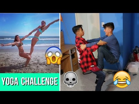 FUNNY YOGA CHALLENGE!!! thumbnail