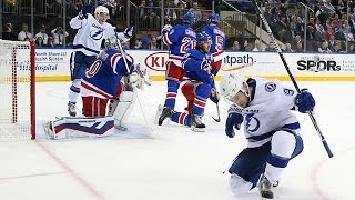 Johnson nets first playoff hat trick in Lightning history