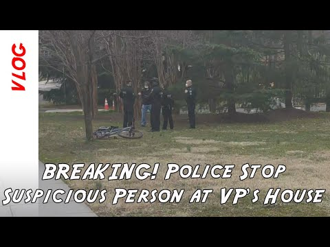 BREAKING: Video of person detained by Secret Service at Vice President's residence in Washington DC