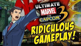 RIDICULOUS PHOENIX WRIGHT! Ultimate Marvel Vs. Capcom 3 - Online Matches