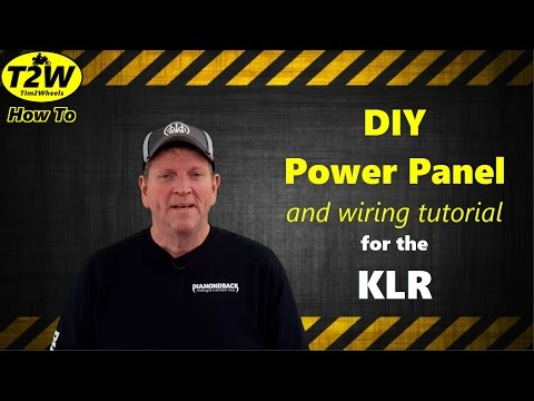 T2W HowTo: DIY Power Panel for the KLR