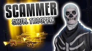 SKULL TROOPER Scammer Gets Scammed Out Of His Whole Inventory! In Fortnite Save The World - EazyDrop
