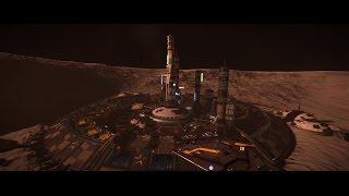 Elite Dangerous Landing at Anderson Beacon - Beautiful planetary Port!