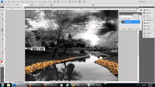 How to make one or some object in a picture color and the rest Black and white