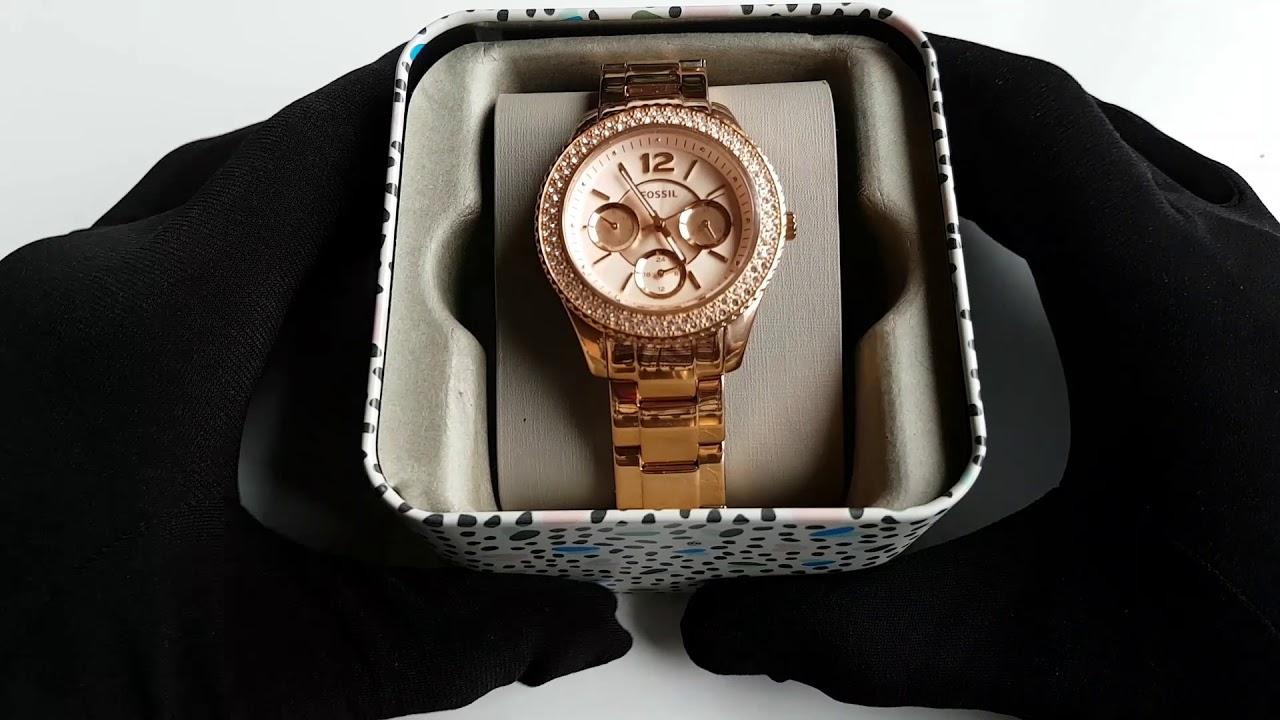 Women's Watch Fossil Часы ФоссилReview Обзор Es3590Женские FJlcu3TK1