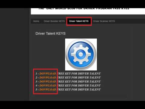 Driver Talent ( Free Key 2016 ) 100% Working - YouTube
