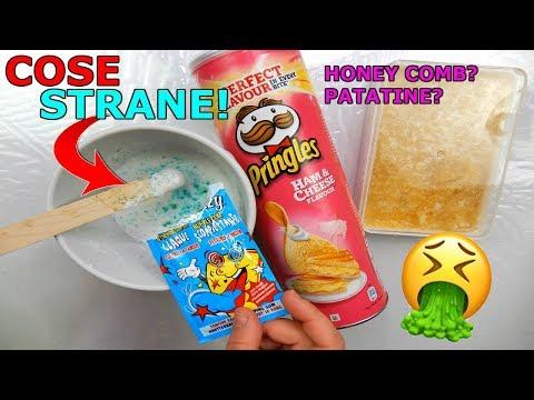 SLIME CON COSE STRANE! Patatine nello slime? (SLIME ESTREMI)? Iolanda Sweets