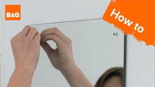 How to put up a bathroom mirror