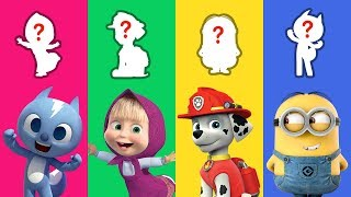 Learn Shapes With Paw Patrol, Minions, Mini Force, Masha & The Bear For Babies Kids - LuLuPop TV
