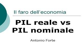 Lezione: Pil reale e Pil nominale