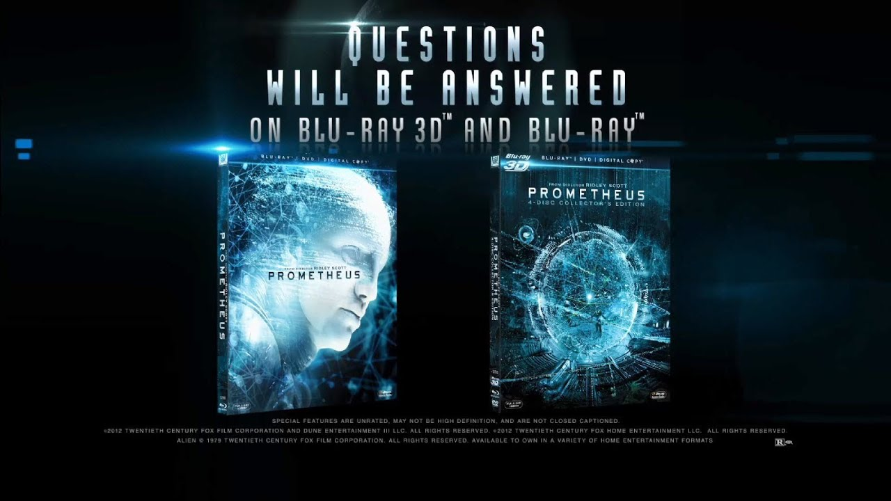 PROMETHEUS - BLU-RAY 3D COLLECTORS EDITION, BLU-RAY AND DVD NOW