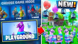 *WORKING* HOW TO PLAY PLAYGROUND MODE! | Fortnite Battle Royale Gameplay