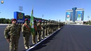 Azərbaycan Silahlı Qüvvələrinin 100 illiyi münasibətilə keçirilən hərbi parad