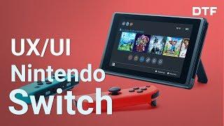 UX/UI Nintendo Switch. Самый комфортный интерфейс игровой консоли. Дизайн