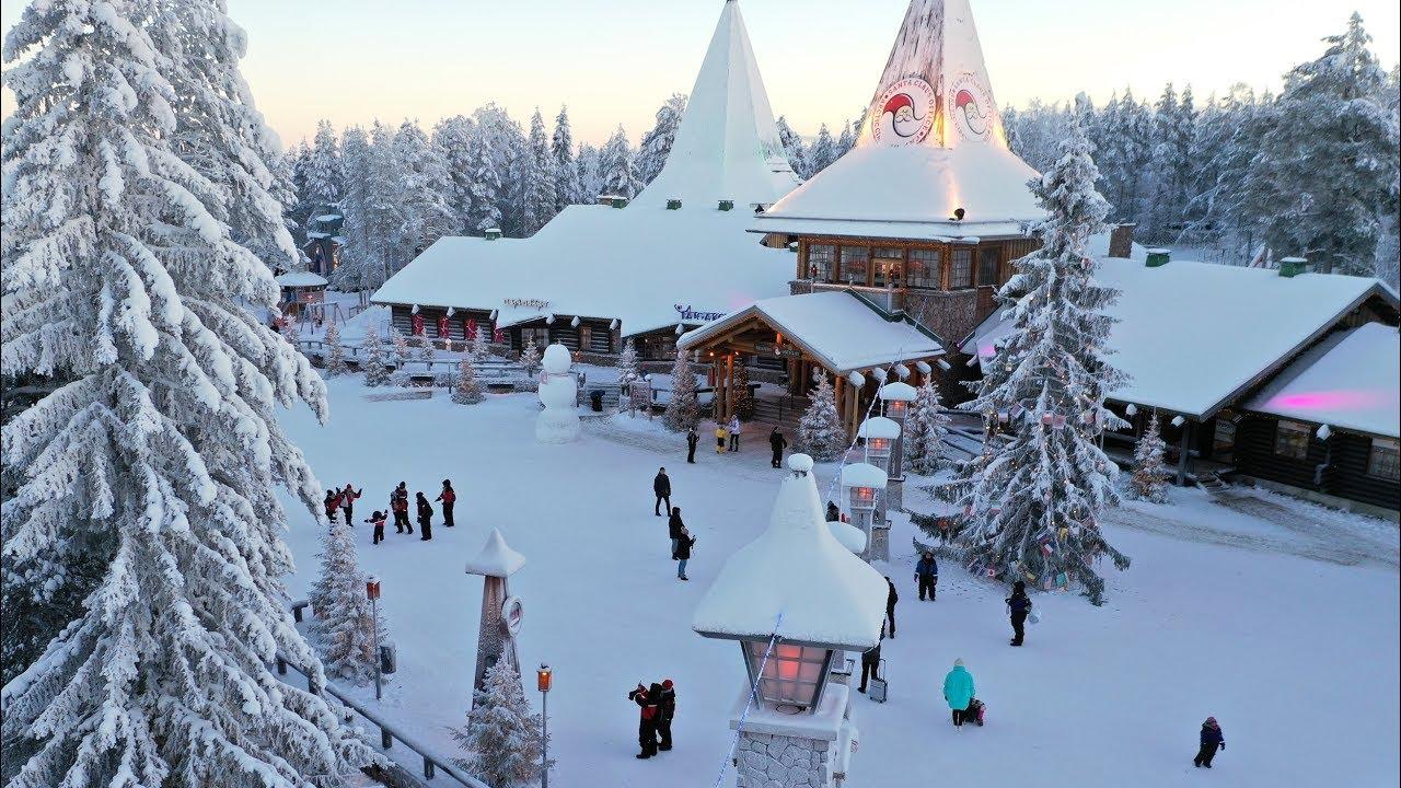 Rovaniemi Lapponia Babbo Natale.Video Babbo Natale A Rovaniemi In Lapponia Filmati Finlandia