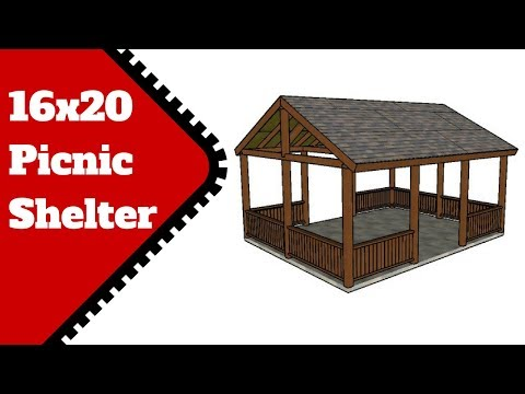16x20 Picnic Shelter Plans - YouTube