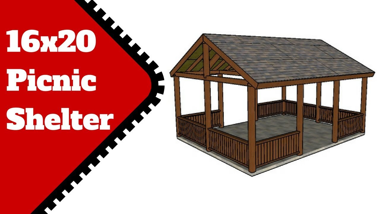 16x20 Picnic Shelter Plans