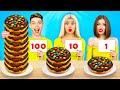 100 Layers Chocolate Food Challenge | Eating 1 VS 100 Layers of Yummies! Mukbang by RATATA