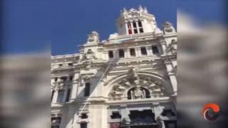 Despliegue de bandera LGTB en el Ayuntamiento de Madrid - Orgullo 2016