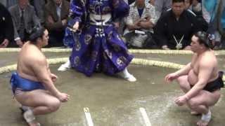 20130512 大相撲夏場所初日 日馬富士vs隠岐の海 初日から万全、日馬富士.
