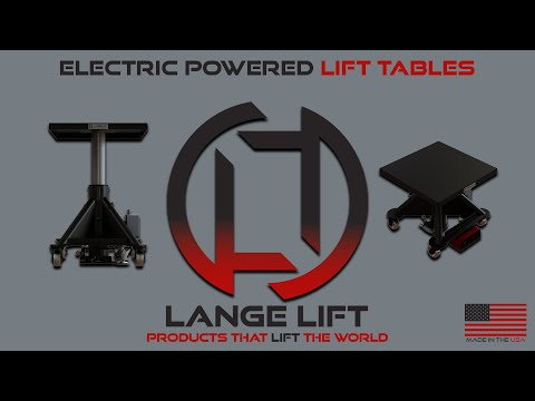 Electric Powered Lift Table, 2,000 Pound Capacity - Lange Lift Model - L-230-EP