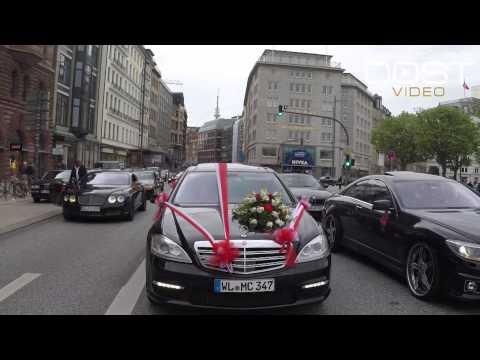 Türkische Autokolonne In Hamburg - Ceylan & Yunus - Hochzeit - 2015 - DOST VIDEO ®