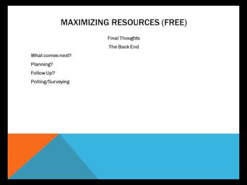 Maximizing Information Resources For Profit - Video 13 - Final Thought