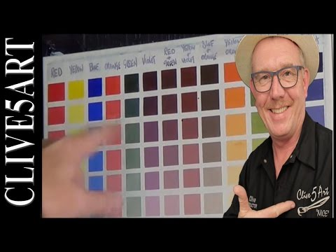 Colour chart, Acrylic painting