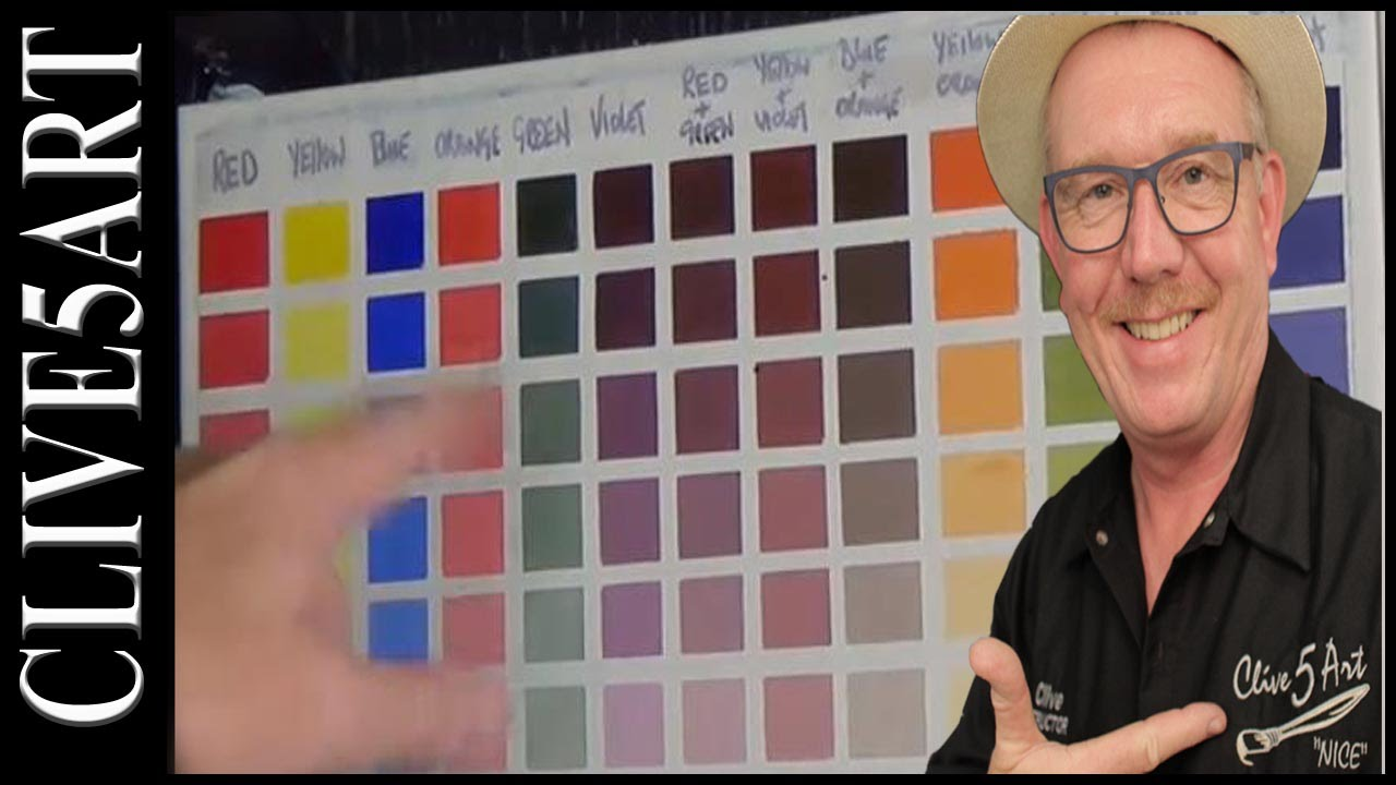 Colour Chart Acrylic Painting Youtube