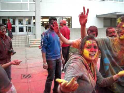 Holi Festival in Vancouver Island University PART-1
