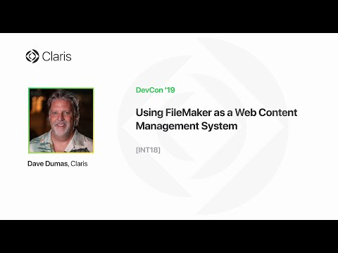 Using FileMaker As A Web Content Management System [INT18]