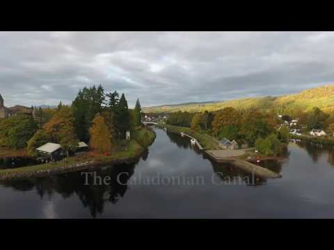 Fort Augustus Abbey Scotland by drone