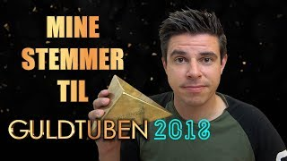 Mine stemmer til Guldtuben 2018