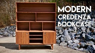 Building A Modern Credenza BookcaseHow To - Woodworking