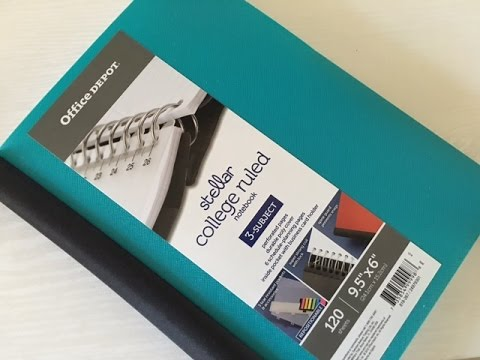 Office Depot College Notebook | First Impression