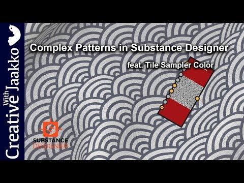 Complex pattern creation in Substance Designer featuring Tile Sampler Color Node
