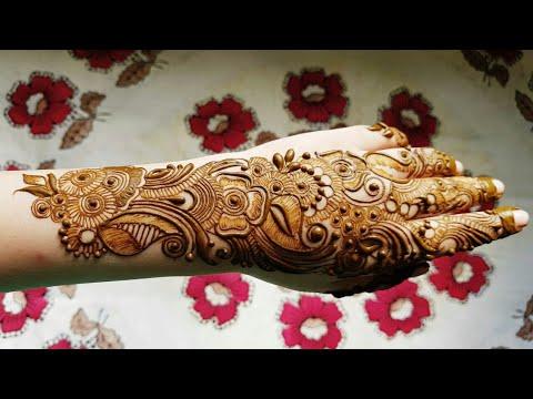 Arabic Henna Design With Shading On Backside 2017 Youtube