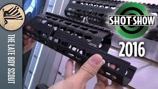 UTG Keymod for AK and M-Lok for AR-15! SHOT Show 2016