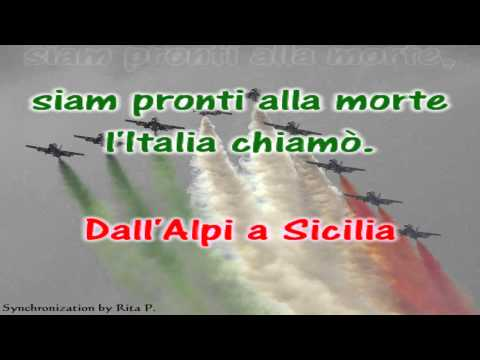 Sing-along karaoke - Italian National Anthem - Inno Nazionale d'Italia di Goffredo Mameli