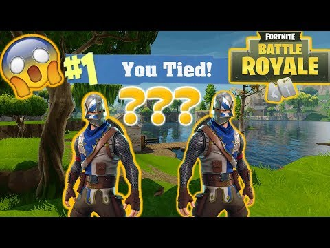 CAN YOU TIE A GAME OF FORTNITE?!?!?! // FORTNITE BATTLE ROYALE THEORY TESTING