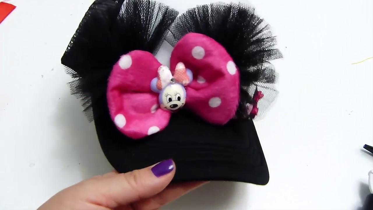 Decoracion de Minnie Mouse para Gorras de Niña - YouTube ec97a77482f