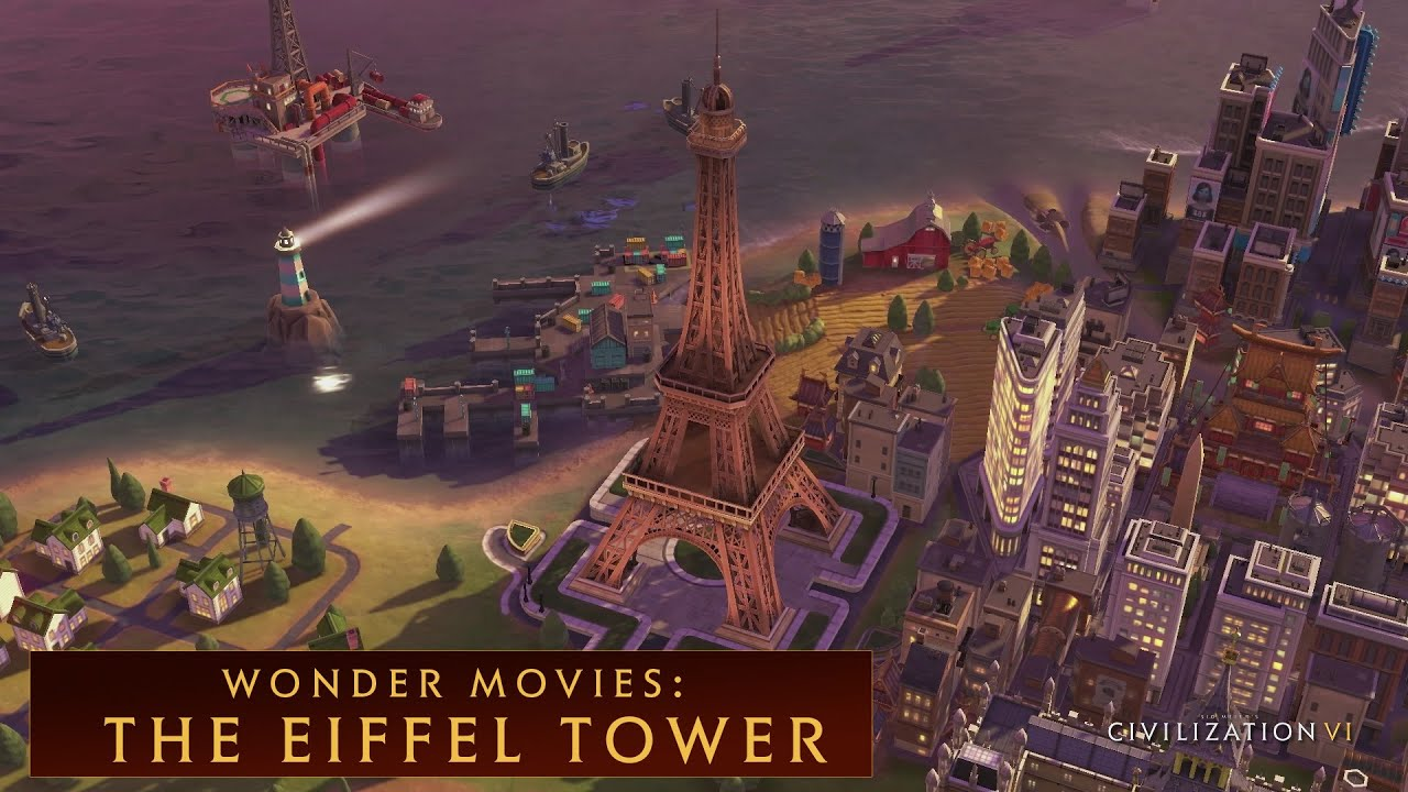 Free Live Fall Wallpaper Civilization Vi The Eiffel Tower Wonder Movies Youtube