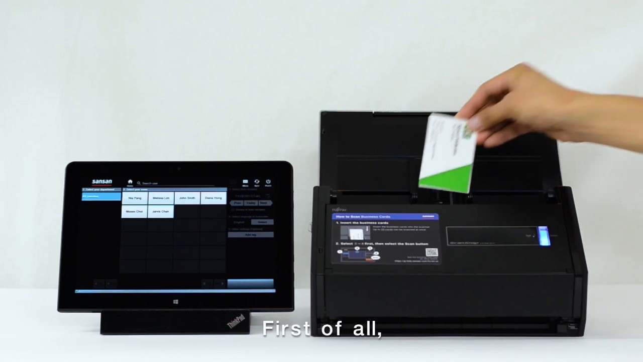 Sansan Scanner makes your business card management easy! - YouTube