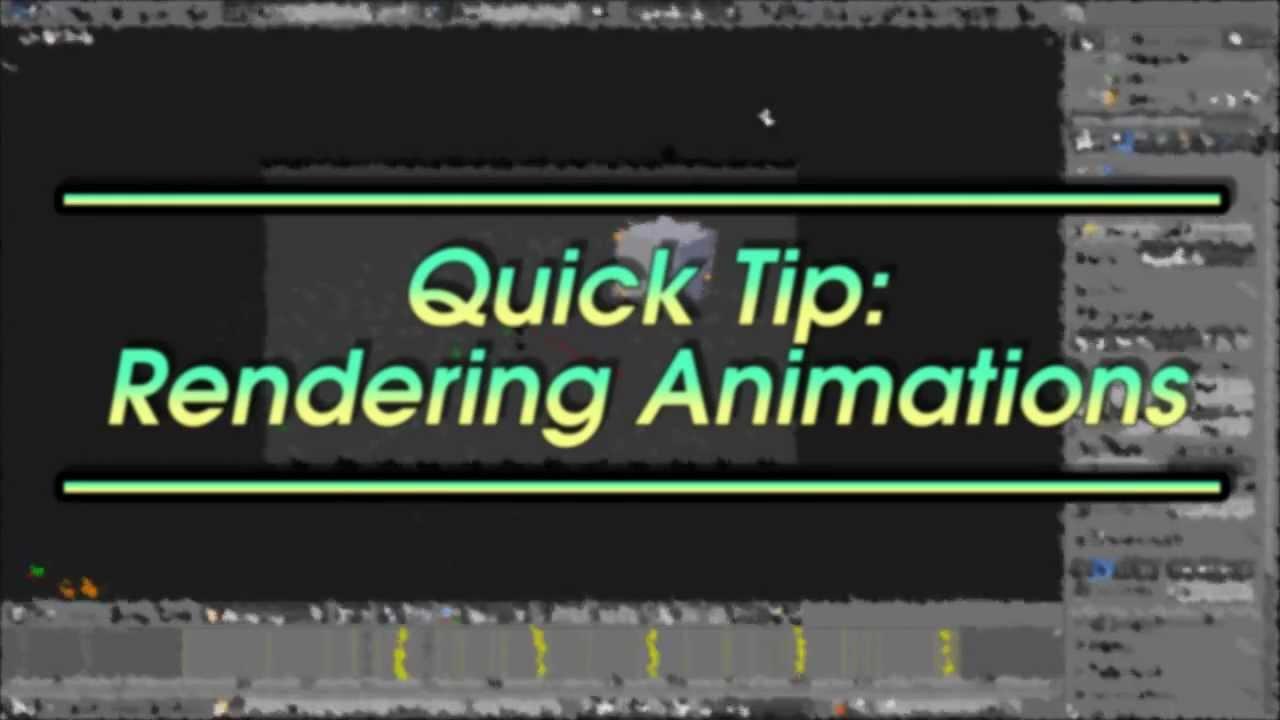 Quick Tip: Rendering Animations (the proper way) — Blender Guru