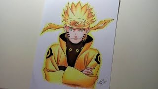 HOW TO DRAW/COMO DESENHAR - Naruto Rikudou Sennin (Sketch and painting)