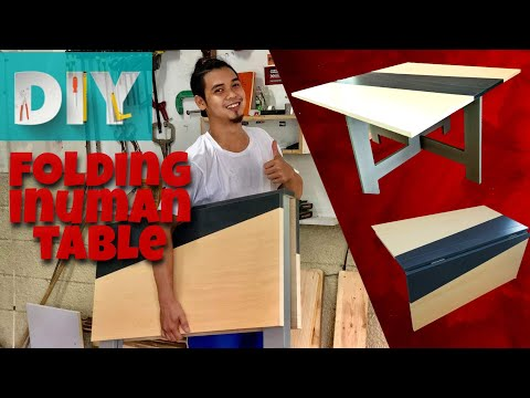 how-to-make-folding-table-|modern-folding-table-|-slim-foldable-table-|-diy-folding-table