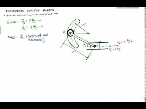 Acceleration Analysis Example Part 1 of 3 - Engineering Dynamics - Rigid Body Kinematics