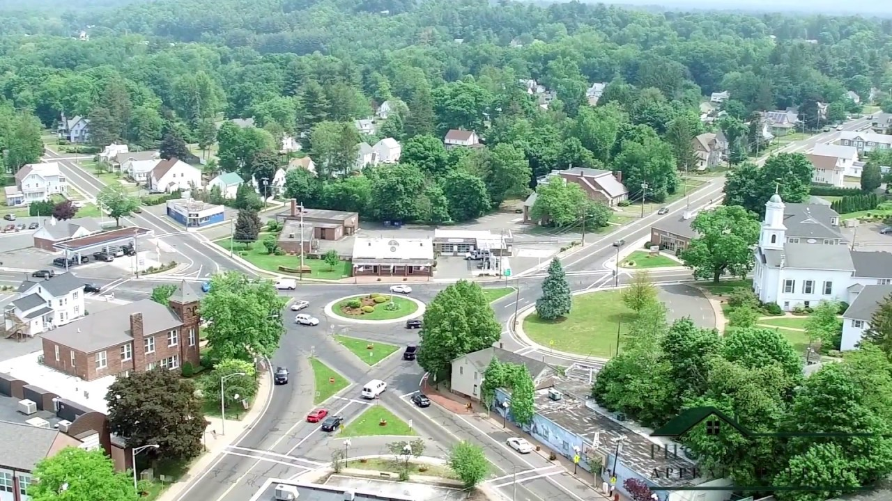East Longmeadow Rotary, East Longmeadow MA Aerial View